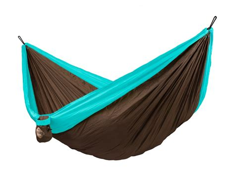 amaca travel colibri turquoise travel hammock with suspension