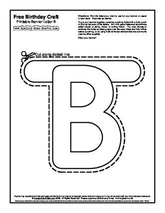 letter templates for banners printable banners templates free free birthday craft