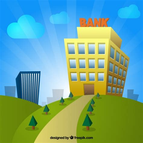 banco imagenes vectores gratis edificio de banco de dibujos animados descargar vectores