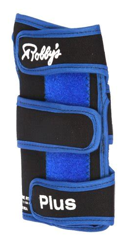 Robbys Leather Plus Right robby s coolmax plus right wrist support black blue small sporting goods indoor bowling