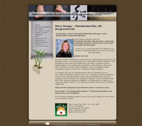Acupuncture Website Templates Acupuncture Website Template Free