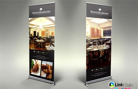 imagenes de roll up link baj 237 o dise 241 o de roll up expositor para restaurante