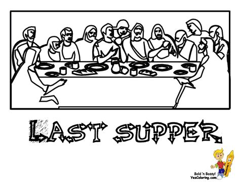 Regal Easter Coloring Pages Easter Free Crucifixion Jesus Last Supper Coloring Page