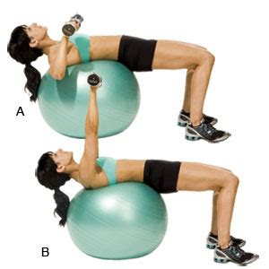 stability ball bench press stability ball chest press women s health magazine