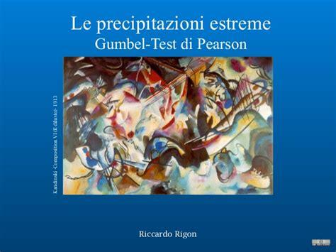 test di pearson 10 13 precipitazioni test di pearson