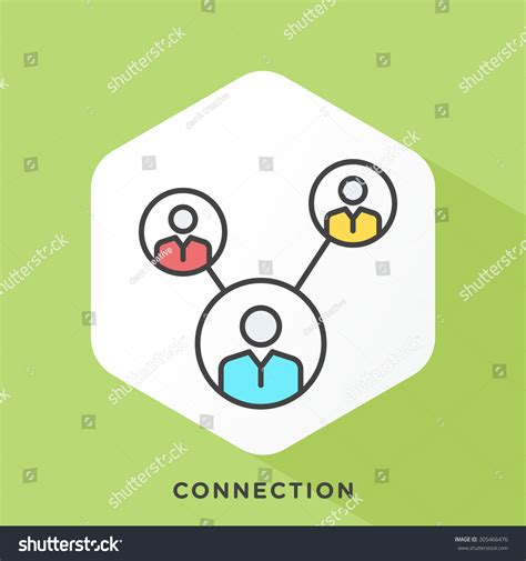Outline Offset Color by Connected Icon With Grey Outline And Offset Flat Colors Stock Vector Illustration