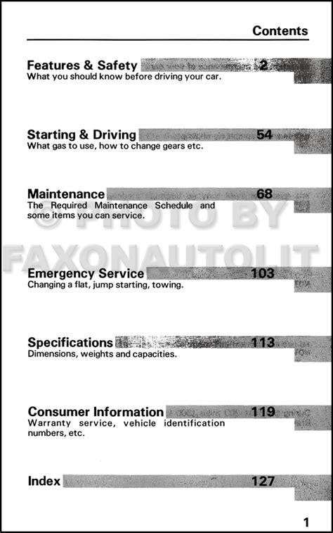 car owners manuals free downloads 1990 honda civic instrument cluster 1990 honda civic wagon owners manual
