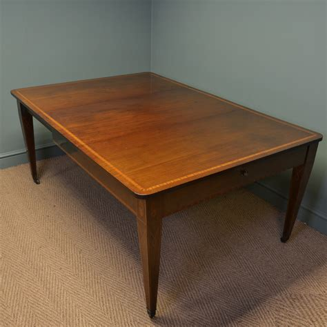 antique mahogany dining table stunning inlaid mahogany antique extending