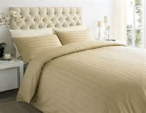 250tc cotton sateen stripe duvet quilt cover