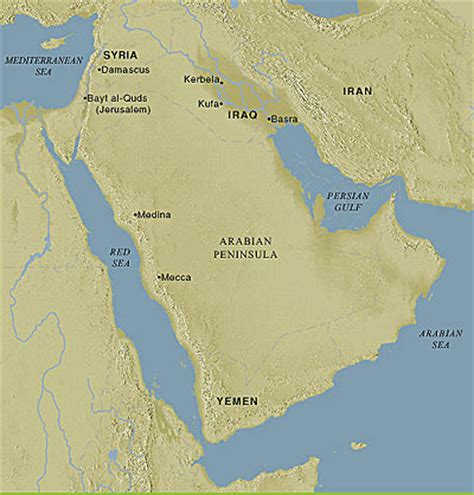 arabian peninsula map location gallery for gt ancient arabia world map