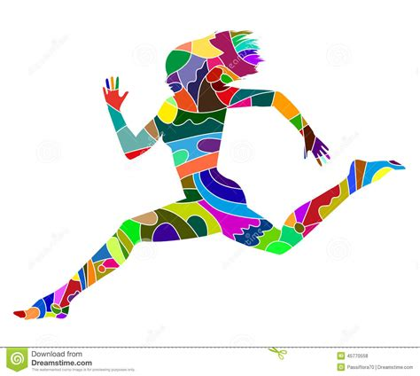 Abstract For Fitness Running 1 abstract silhouette of running stock vector image 45770558