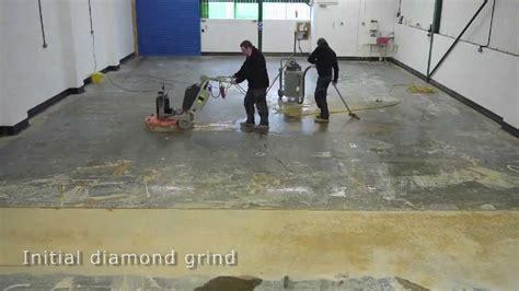 do it yourself polished concrete floor diamond polishing concrete polishing youtube