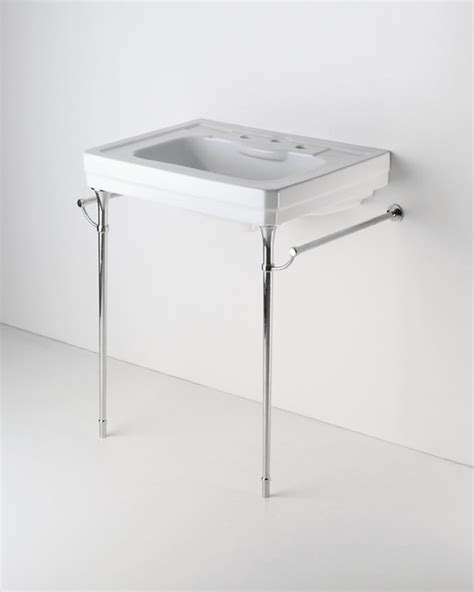 Metal Leg Bathroom Vanity Metal Two Leg Single Washstand Traditional Bathroom Vanities And Sink Consoles Other