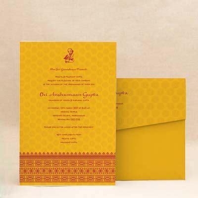 Munj Invitation Cards