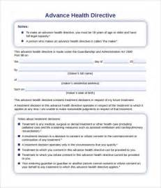 advanced directive template advance directive form 9 free documents in pdf