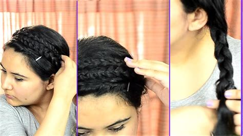 simple hairstyles for college youtube easy quick summer hairstyle for college or work delhi