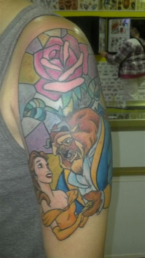 beauty and the beast tattoo designs and the beast ideas
