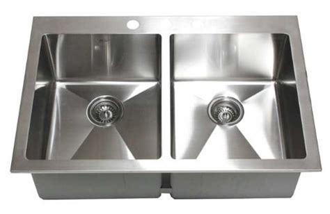 16 top mount stainless steel kitchen sinks kitchen sinks recommends 33 inch top mount drop in