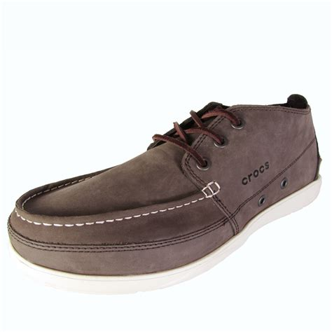 s walu chukka boot crocs mens walu chukka moc toe ankle boot shoes ebay