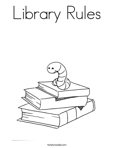 preschool rules coloring pages library rules coloring page twisty noodle
