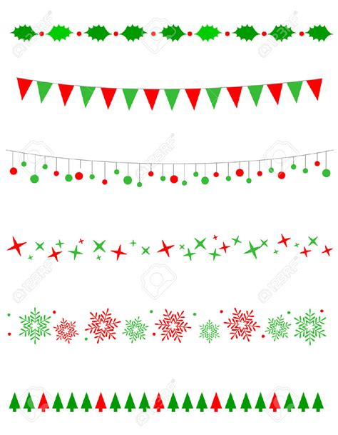 christmas pattern border snow clipart divider pencil and in color snow clipart