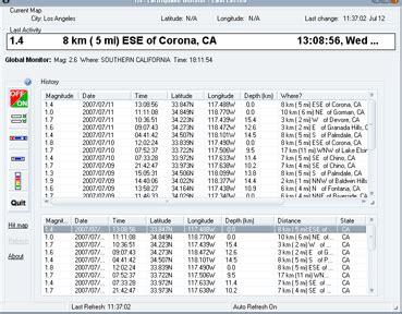 earthquake data api earthquake monitor softwares free download freewares