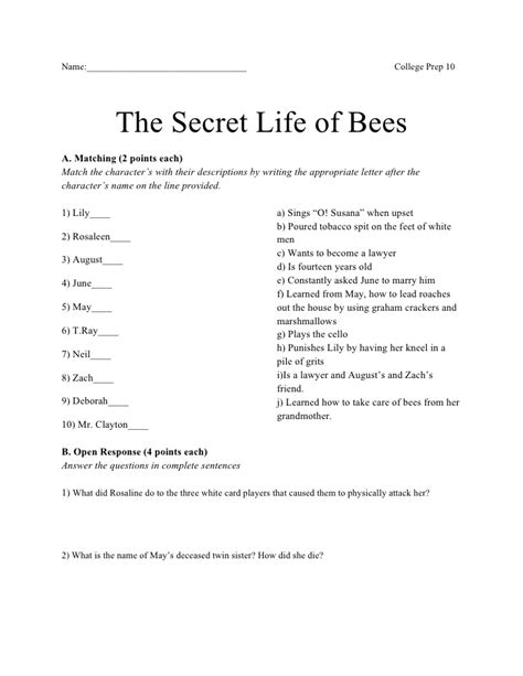 secret test secret of bees test