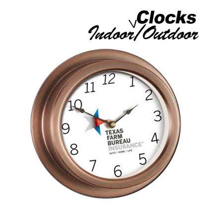 Rohs Standard Clock Shaped Indoor And Outdoor Analog Thermometer logo clocks bnoticed put a logo on it the promotional