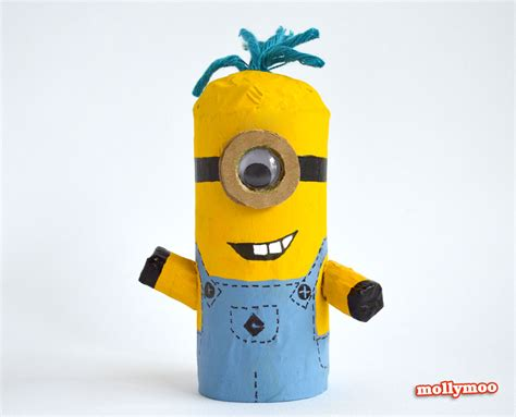 Minion Toilet Paper Roll Craft - mollymoocrafts toilet roll crafts for despicable me