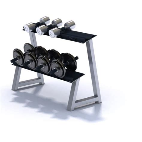 Rak Dumbbell dumbbell rack with dumbbells 3d model cgtrader