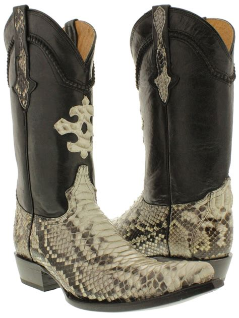 mens python boots mens real python snake skin genuine leather cowboy boots