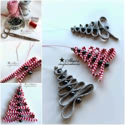 how to diy easy ribbon bead christmas tree ornament www fabartdiy com