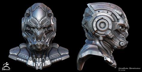 artstation sci fi helmet by jonathan benainous