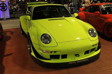 rwb porsche yellow all of the porsches at sema flatsixes