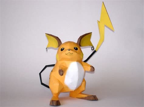 Origami Raichu - raichu papercraft by skele on deviantart