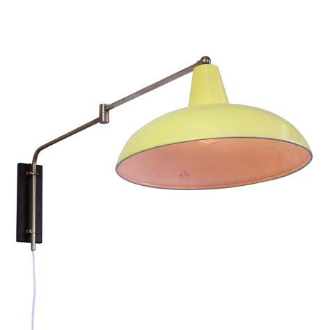 pastel yellow adjustable wall light 1950s 1118