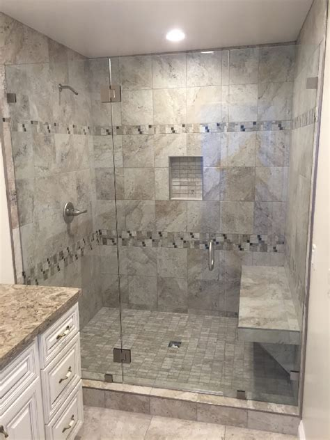 Shower Doors San Diego Three Eighths Inch Glass Enclosure Patriot Glass And Mirror San Diego Ca