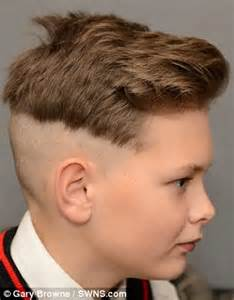 diy mens haircut schoolboy 12 banned from the classroom because of his