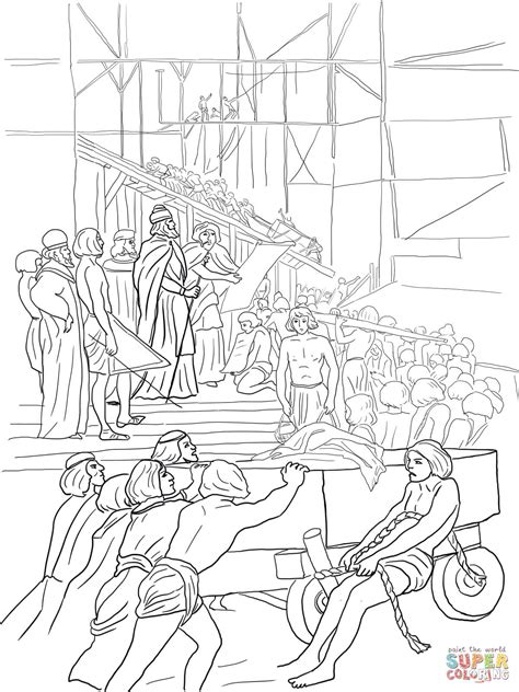 coloring page of king solomon s temple king solomon builds the temple coloring page free