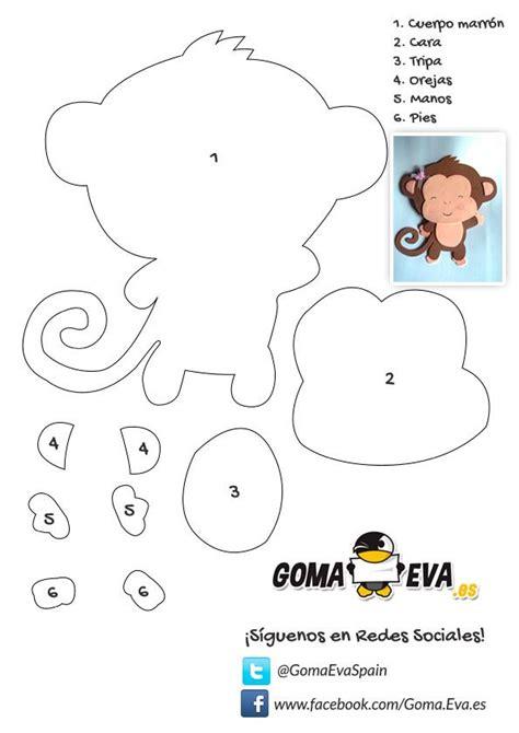 moldes de animales de la selva en goma eva http www goma eva es molde fofucha plana animal mono