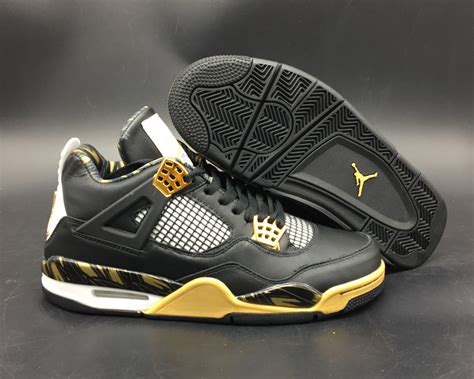 Air Gold air 4 retro wings black gold for sale newest yeezy