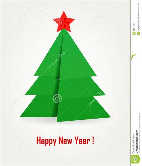 origami weihnachtsbaum vektor abbildung illustration von