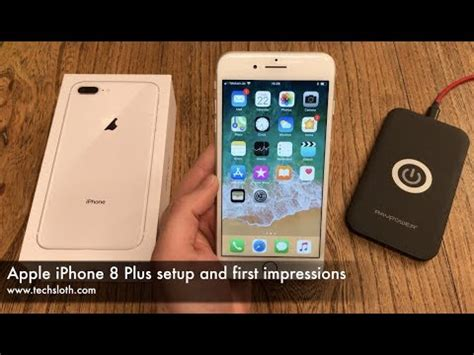 apple iphone 8 plus setup and impressions