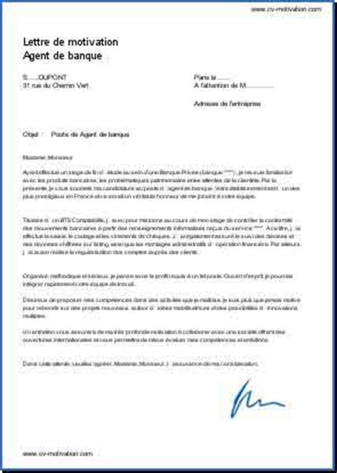 Modele Lettre De Motivation Guichetier Banque Resume Format Lettre De Motivation Cv Banque