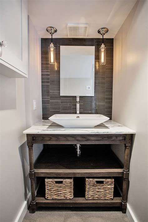 Bathroom vanities ideas powder room contemporary with stone tile wall stone tile wall