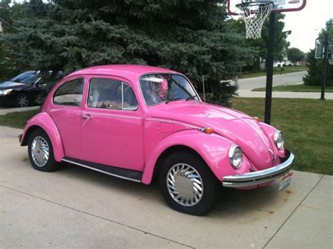 used pink volkswagen beetle purchase used 1968 volkswagen beetle pink automatic