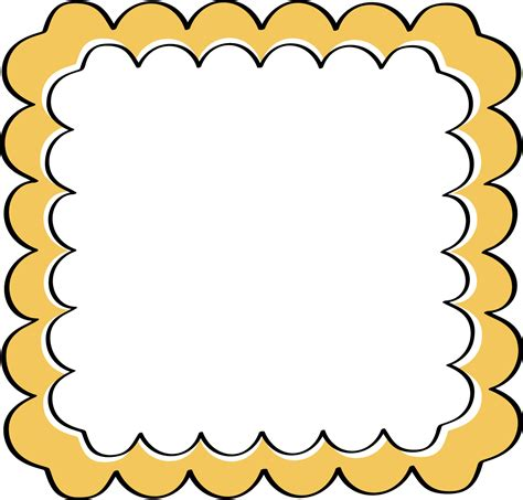Scalloped Border Clipart yellow scalloped frame free clip frames