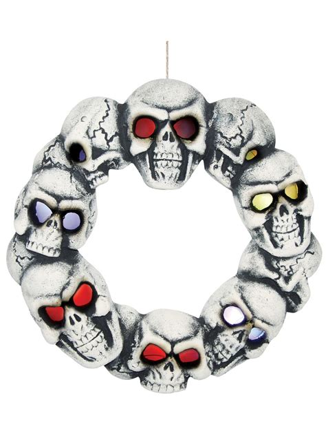 wreath with lights skull wreath with lights costume supercenter buy yours