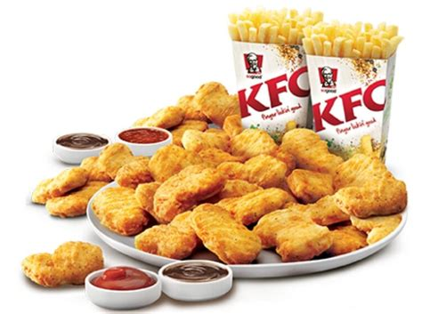 hot chips kfc deal kfc 15 95 nuggets party pack with 30 nuggets 2