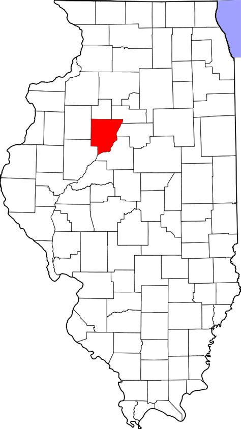 Peoria County Search File Map Of Illinois Highlighting Peoria County Svg Facts For Kidzsearch